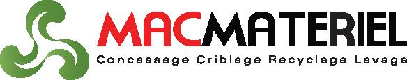 Mac Materiel spécialisée dans a vente et la location d'équipements, neufs et d'occasion de concassage, criblage, lavage et recyclage Logo