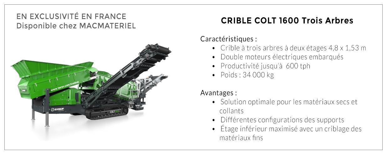 Crible colt 1600 Trois Arbres