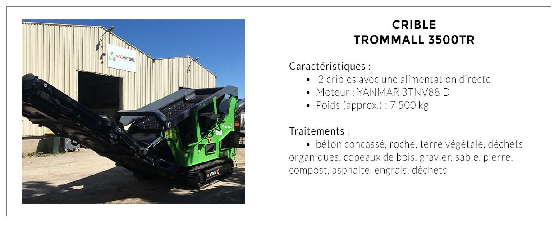 Crible TROMMAL 3500TR